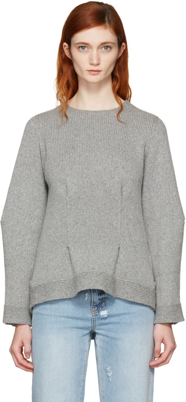 Grey Cashmere Crewneck Sweater | Stitching, Cashmere sweaters and ...