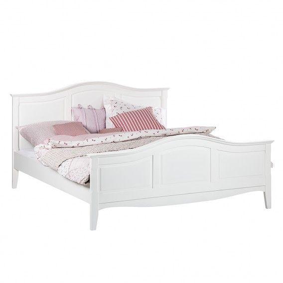 Bett Aus Der Serie Giselle In Weiss 180 X 200 Cm Home24 Bett Landhausstil Bett Ideen Bett 140x200 Weiss
