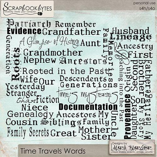 Time Travels Word Art :: Word Art/Quotes :: Embellishments :: SCRAPBOOK-BYTES