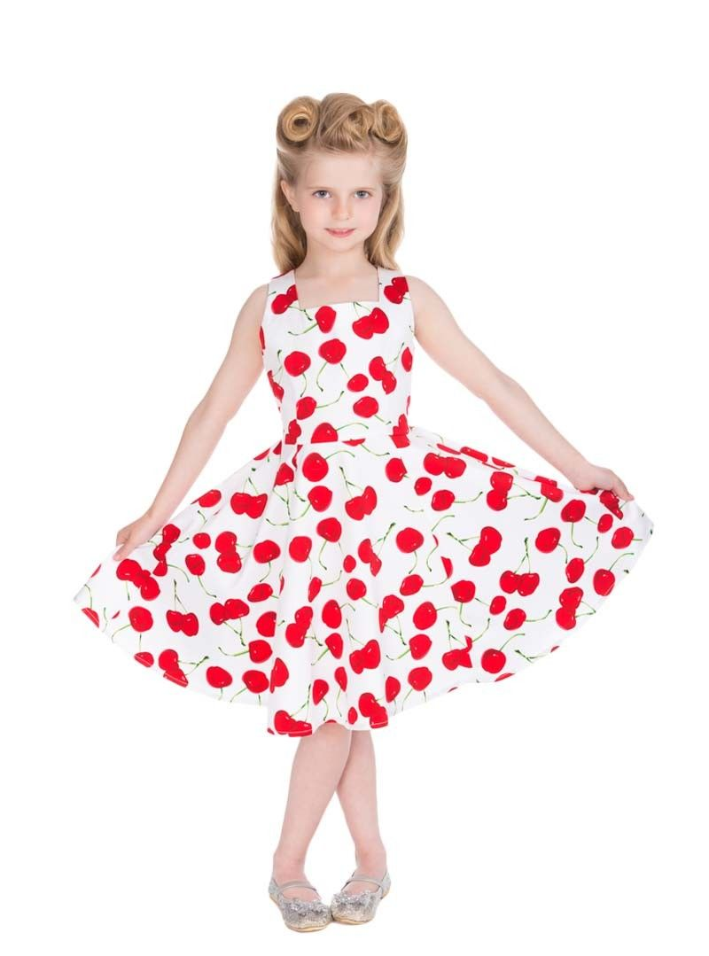 Robe Enfant Fille Rockabilly Pin-Up Retro HR London   robe cérémonie ...