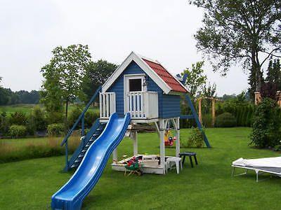 Trend Kinderspielhaus MADITA x m Kinderhaus Holzhaus Stelzenhaus mit Sandkasten