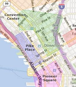 Pioneer Square Seattle Maps Maps And Info Graphics Seattle