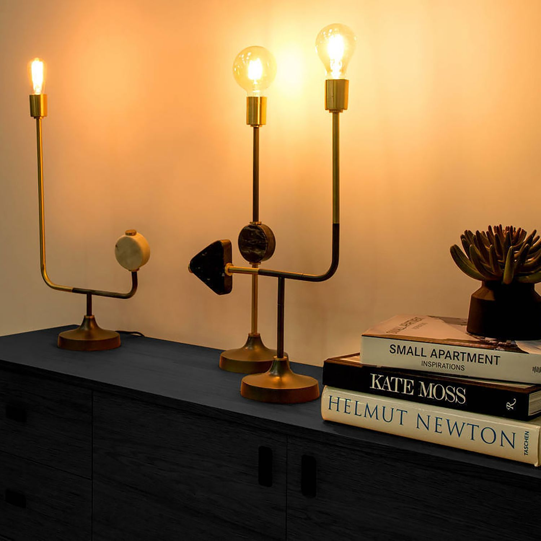 LED Tischlampe HOME Design Esszimmer Batterie Beleuchtung Holz Schalter Leuchte