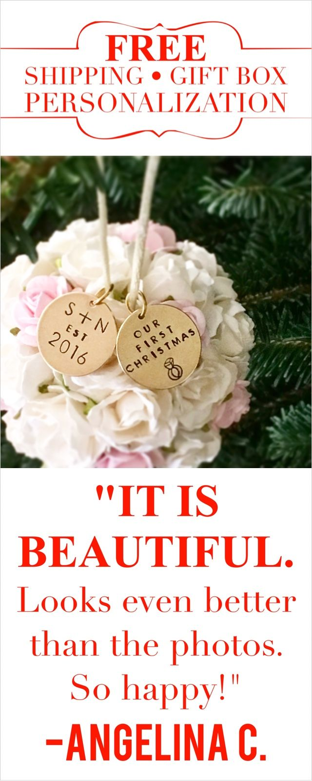 First Married Christmas Ornament | Christmas ornament