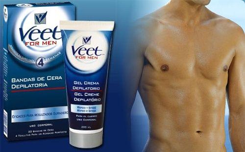 Depilación masculina con cremas depilatorias para hombres