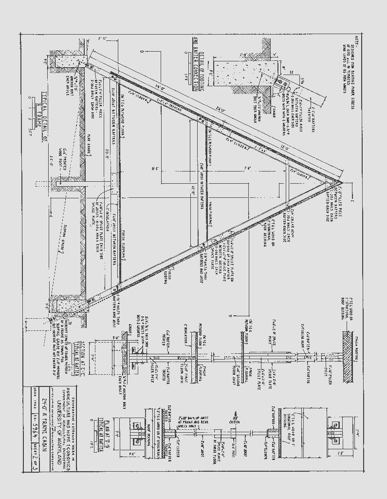 24-a-frame-cabin-plans_page_2 | SDS Plans | pRojeCs | Pinterest
