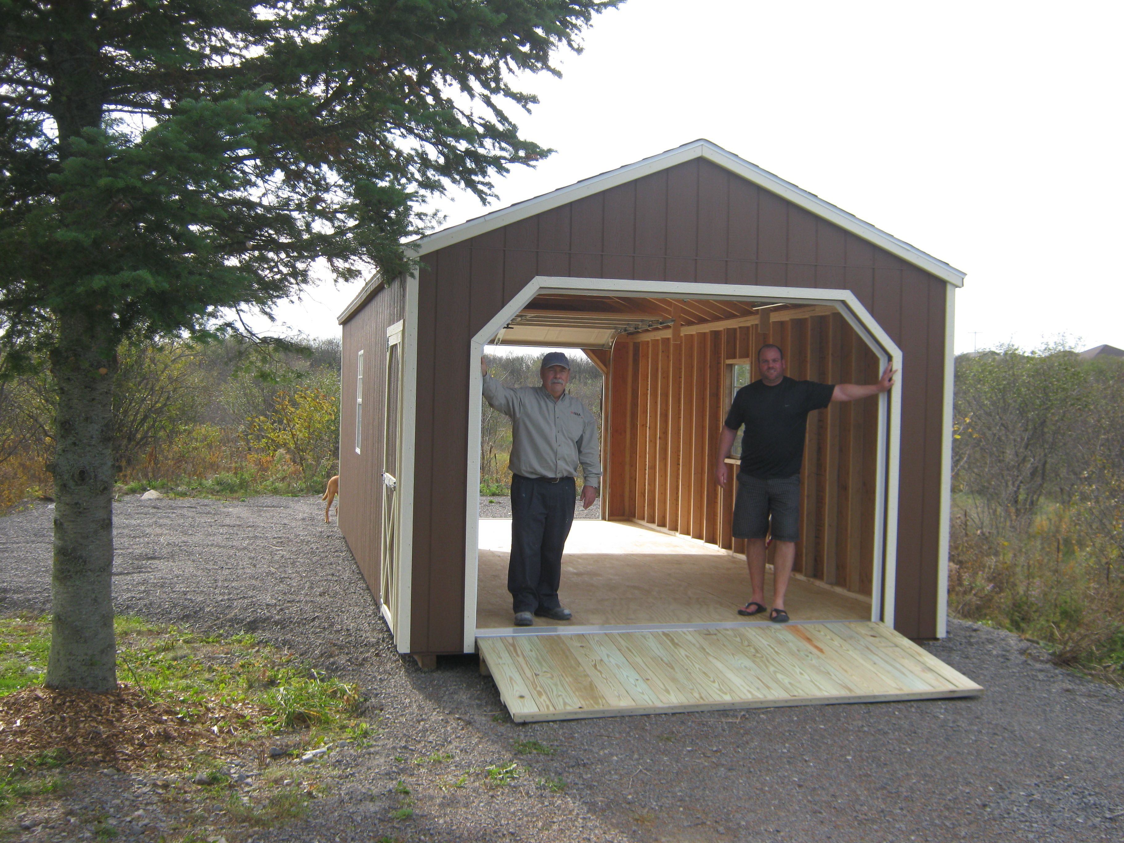 12' X 24' Wooden Portable Garage with double doors