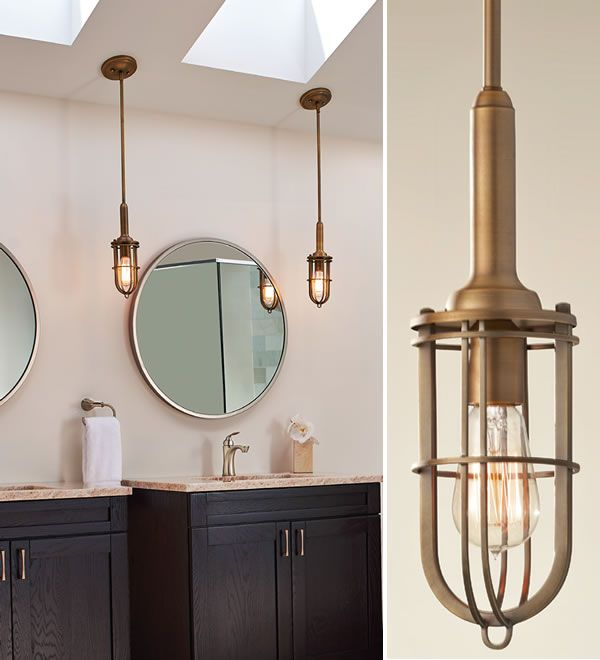 Bath Lit With Two Feiss Urban Renewal Mini Pendants Coastal Style Brand Lighting Call S To Ask For Your