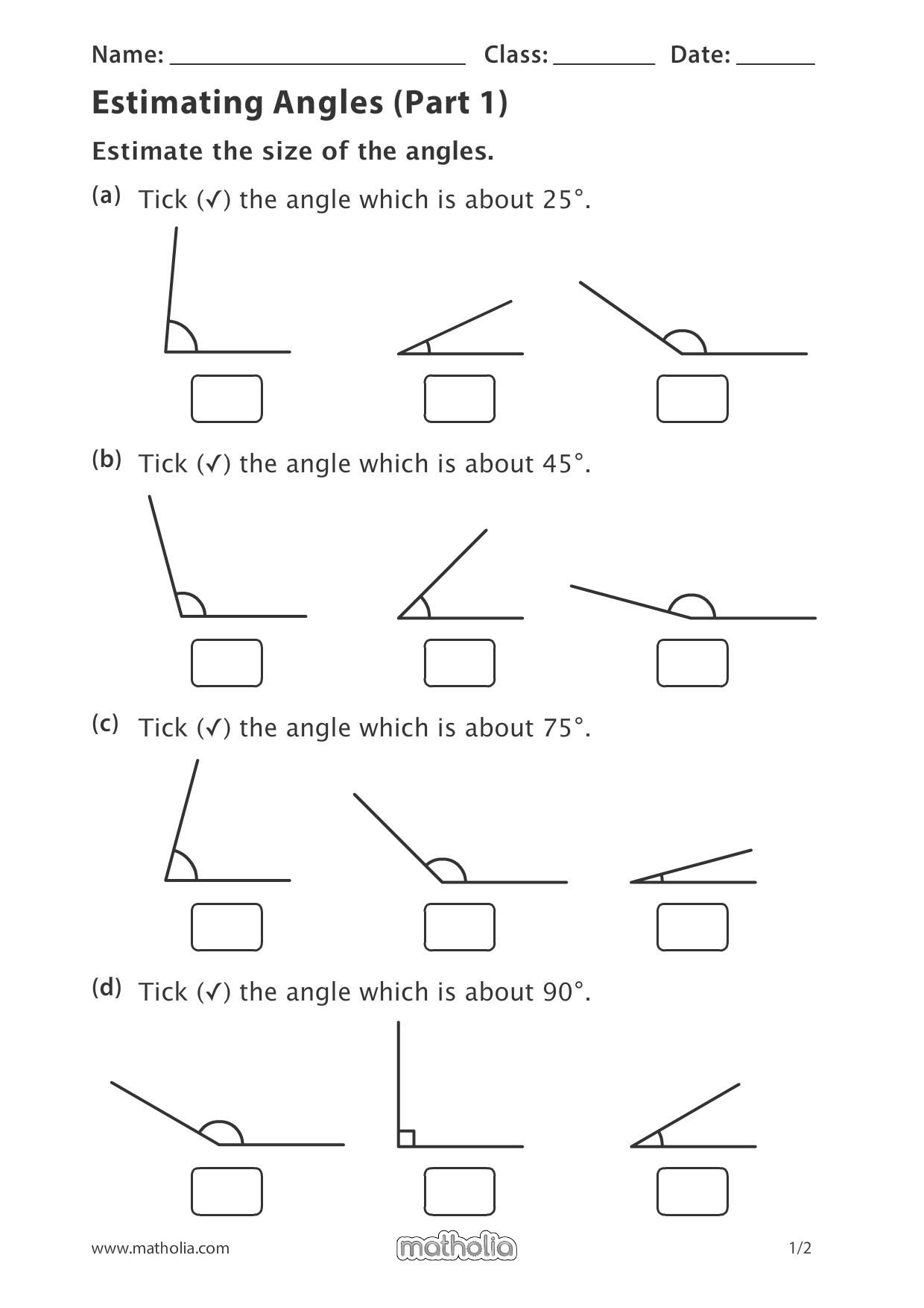 Estimating Angles Part 1 In
