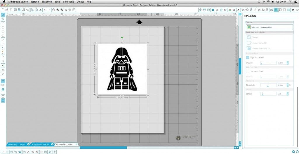 Traceren van een plaatje in silhouette studio Nederlandse uitleg, tutorial