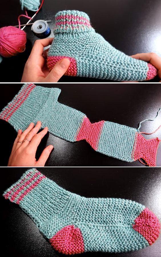 Zwei Nadelsocken - Free Knitting Pattern - #Free #Knitting #Nadelsocken #Pattern #Zwei #patrontricotgratuit