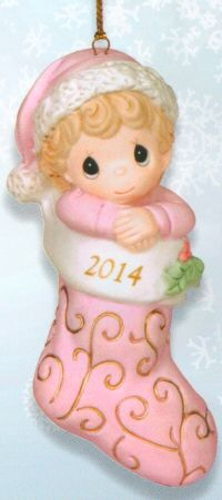 Precious Moments Dated 2014 Baby Girl Ornament. SOLD OUT ...