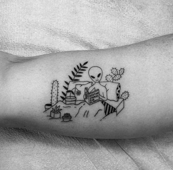 Tattoos, Funny Tattoos, Alien Tattoo