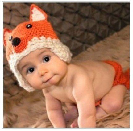 Baby Fox Newborn Baby Crochet Knitted Baby Hat Cap Photography Prop Costume  Baby Animal Hat Cap 1305036220fe