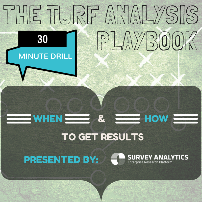 Survey Analytics Blog Your Most Frequently Asked TURF