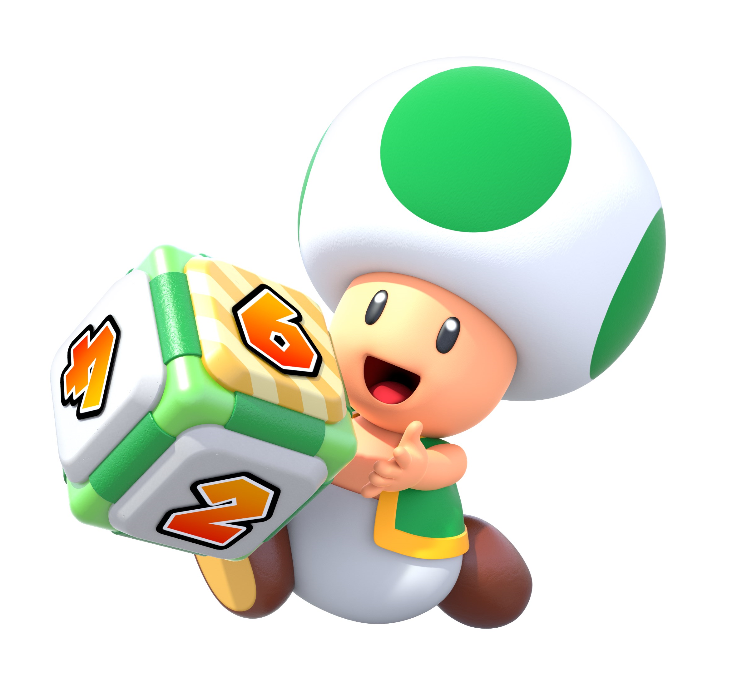 Green Toad Mario Party Star Rush Super Mario Brothers
