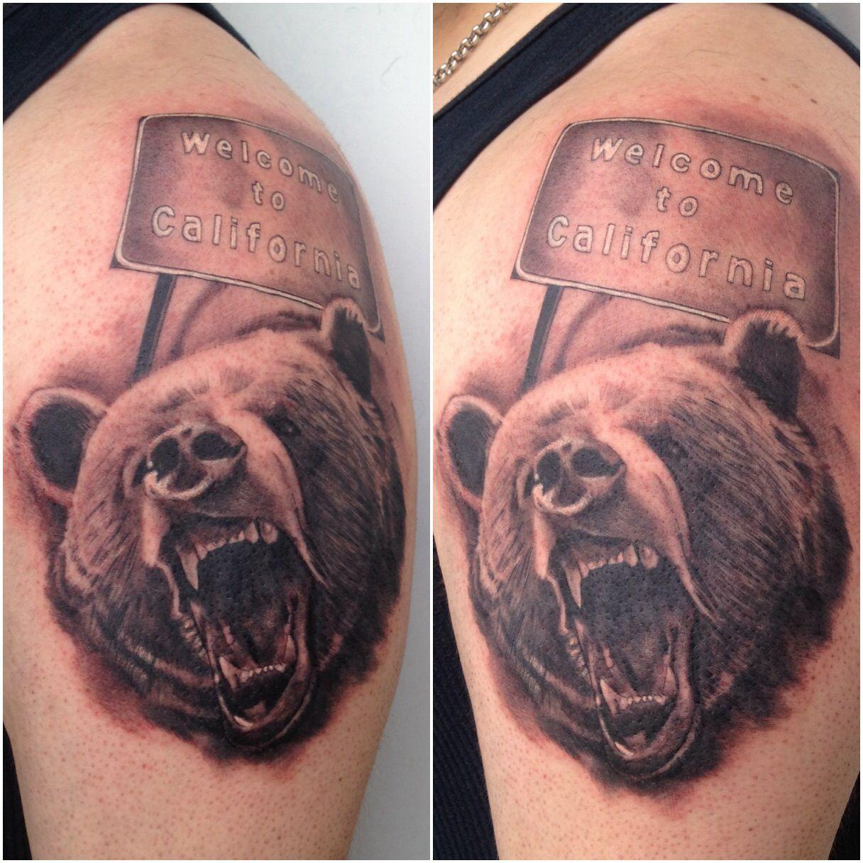 California bear tattoo california bear tattoos