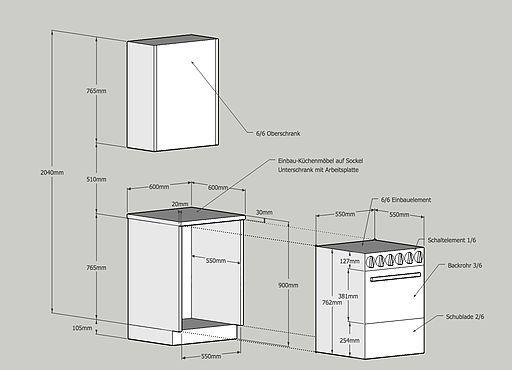 Schweizer Mass System Kuchen Mobel Arbeitsplatte Moderne Kuchendesigns