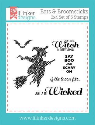 Lil inker designs bats and broomsticks