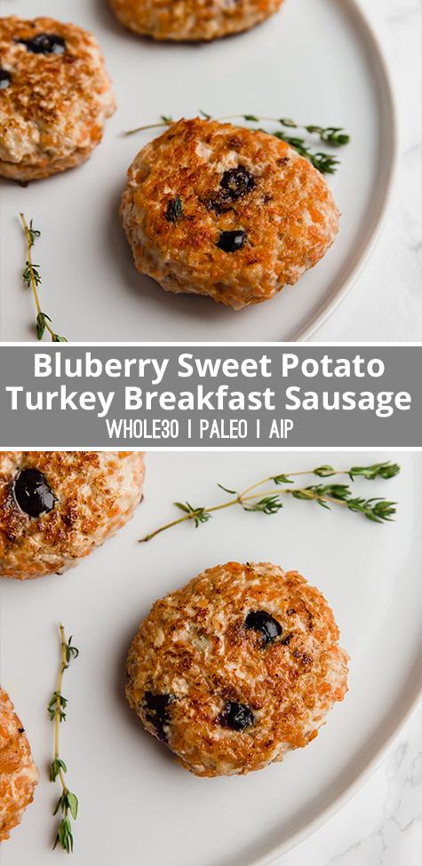Blueberry Sweet Potato Turkey Breakfast Sausage - Unbound Wellness