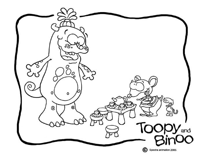 Pin By Natalie Dumont On Toopy Binoo Party Coloring Book Pages