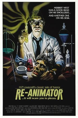 Poster: Re-Animator [1985], directed by STUART GORDON., 12x8in.