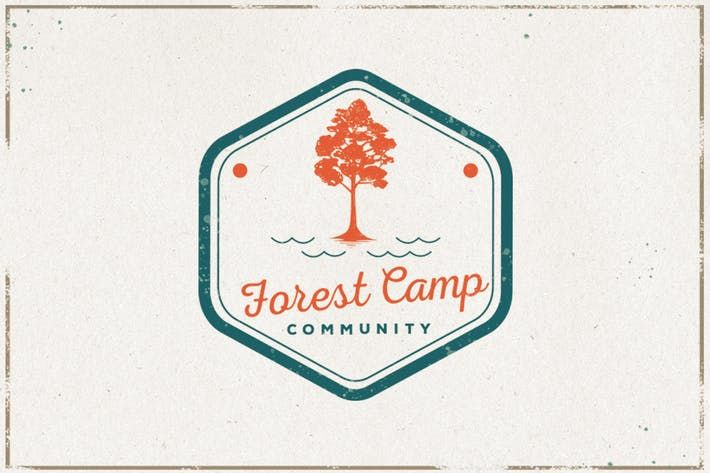 Vintage Tree Logo Badge Design Download 1