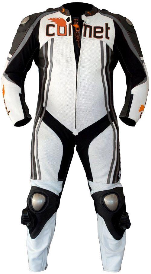 Comet CCR-1 Elite Custom 1 Piece Leather Motorcycle Racing Suit -with Gun Metal  Accents