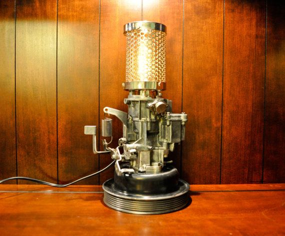Gm Rochester Carburetor Desk Lamp With Touch Sensitive Dimmer Switch Lamp Desk Lamp Novelty Lamp