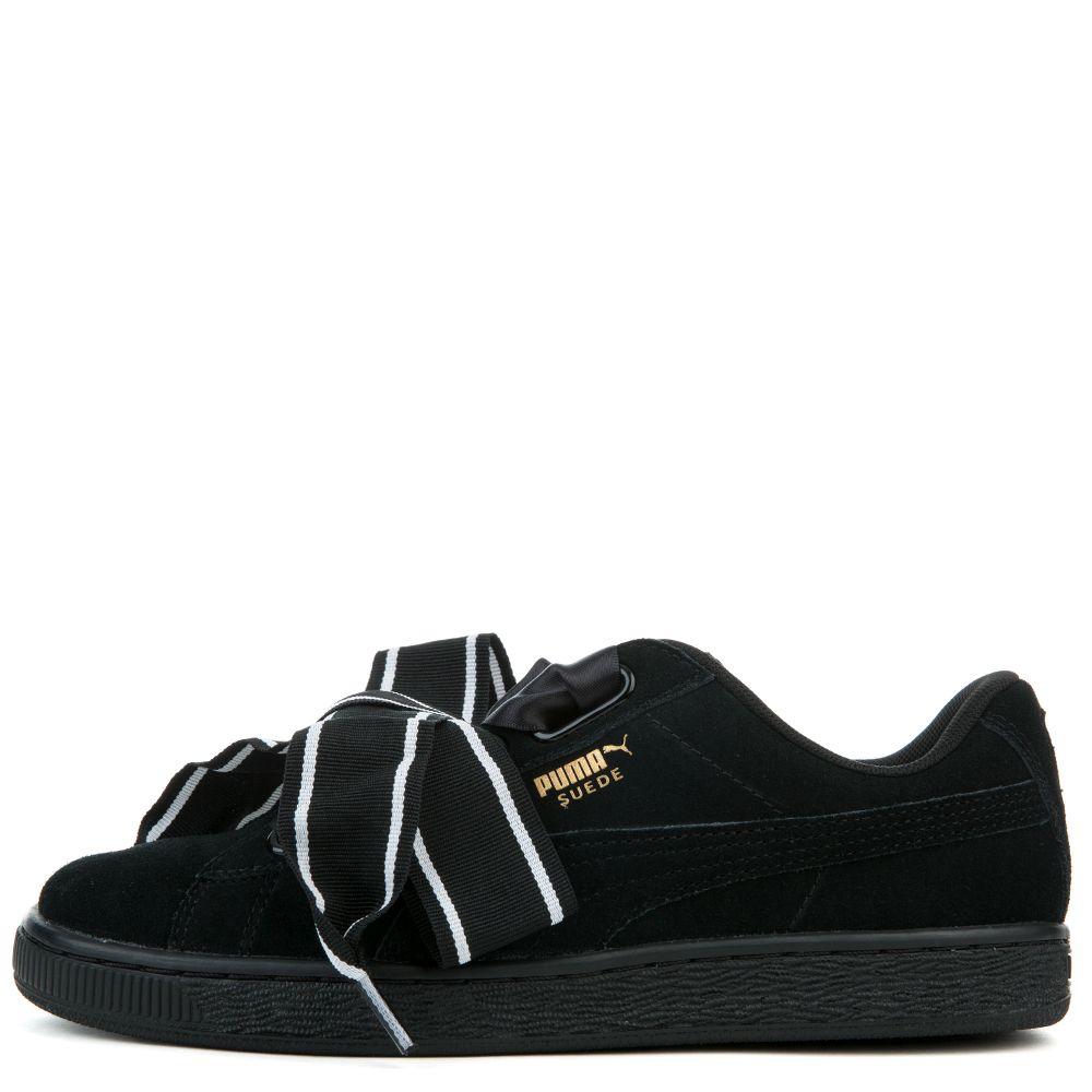 timeless design c4ae9 d18cd Puma Women's Suede Heart Satin Ii Sneaker Puma Black Puma ...
