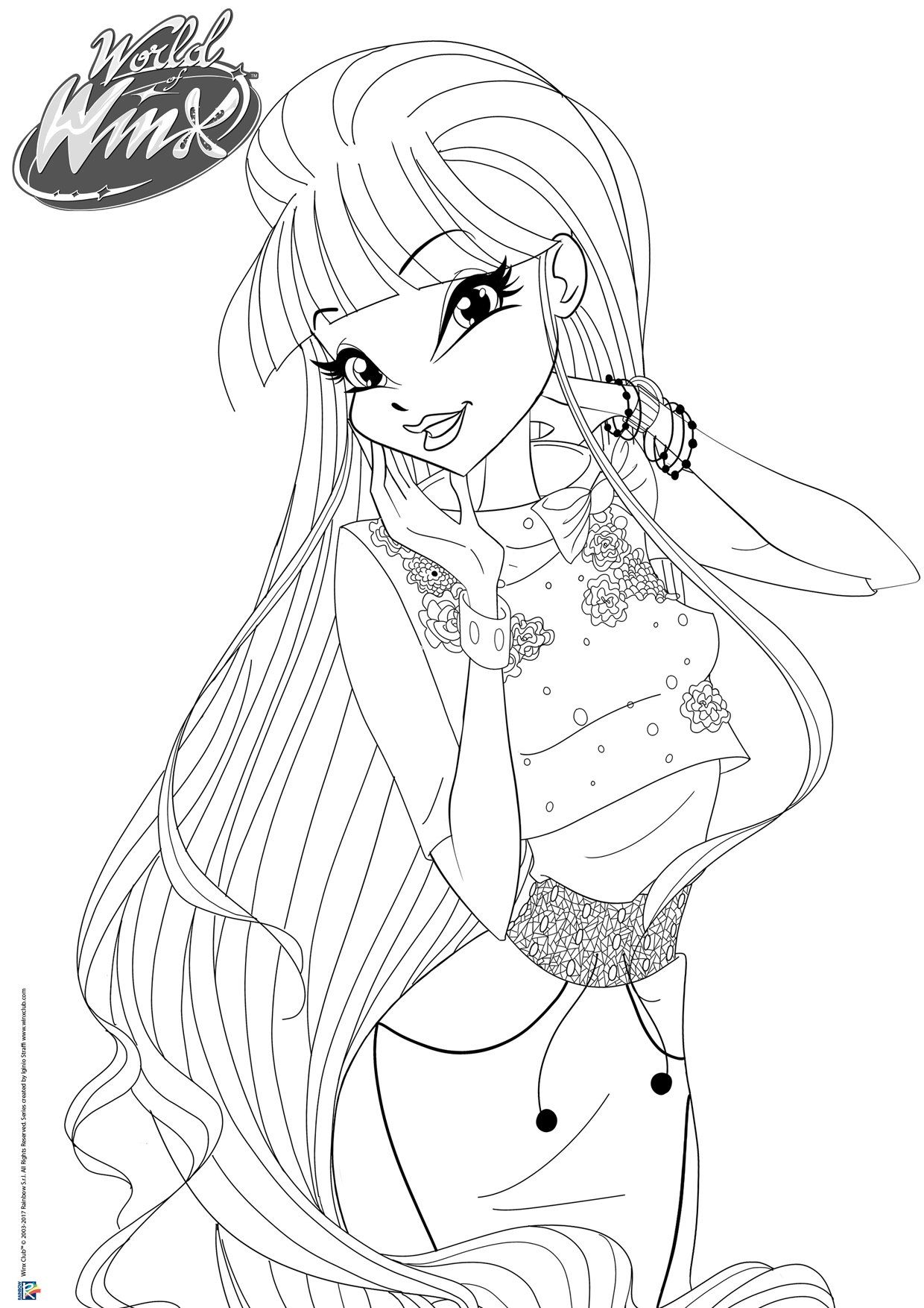 Idea By Mariam789 On Winx Club Cartoon Coloring Pages