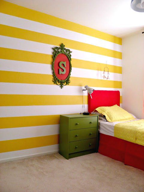 Reader Showcase - Happy & Colorful Kids Room | Striped walls ...