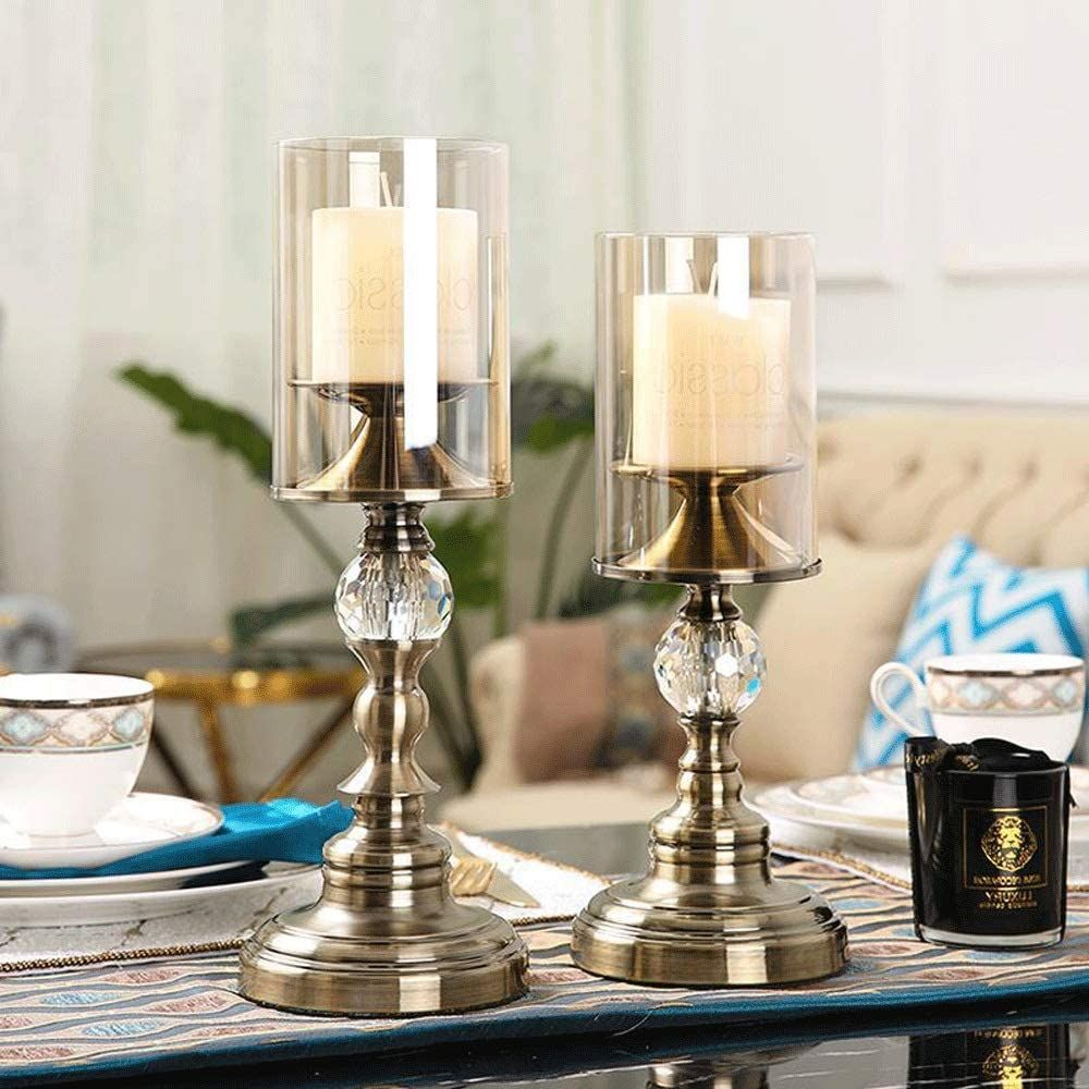 Candleholders European Candlestick Holder Living Room Retro Dining Table Glass Metal Candle Holder Candle Holders Metal Candle Holders Candle Table Decorations
