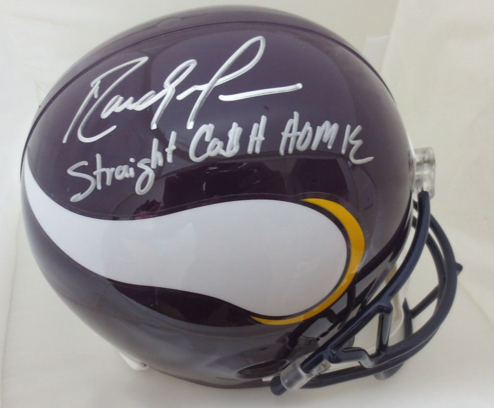 27687a8a Randy Moss Signed Vikings Straight Cash Homie Helmet from Powers Autographs