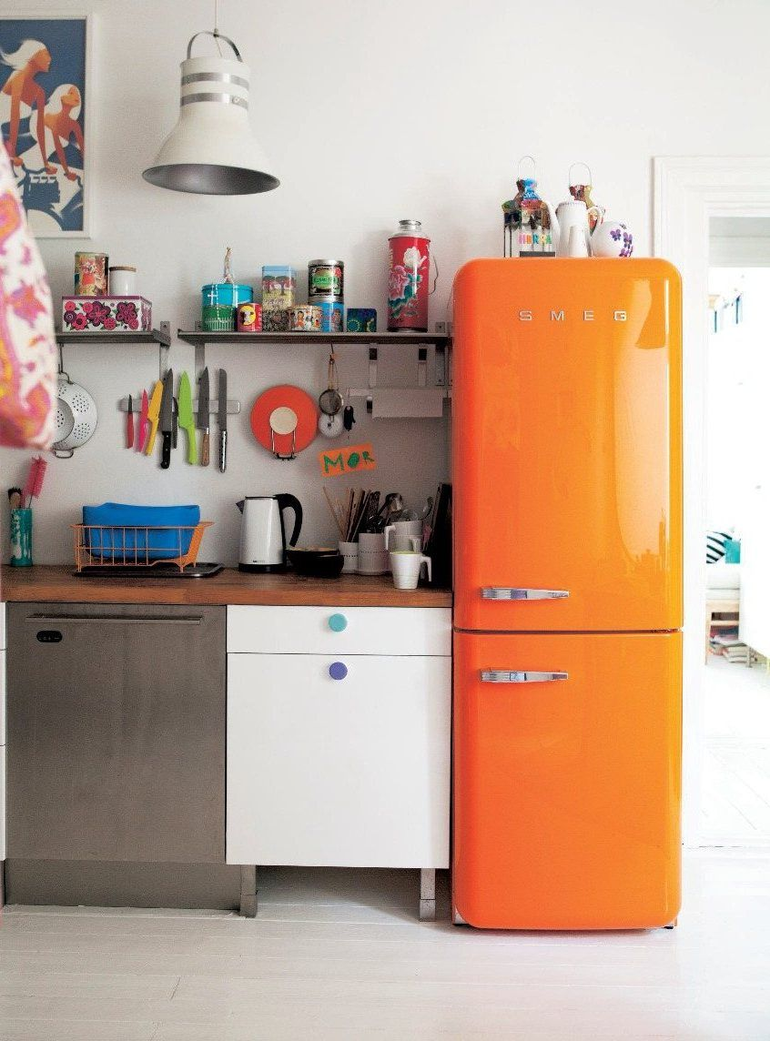 orange smeg fridge #retro #kitchen | Kitchens I | Pinterest ...
