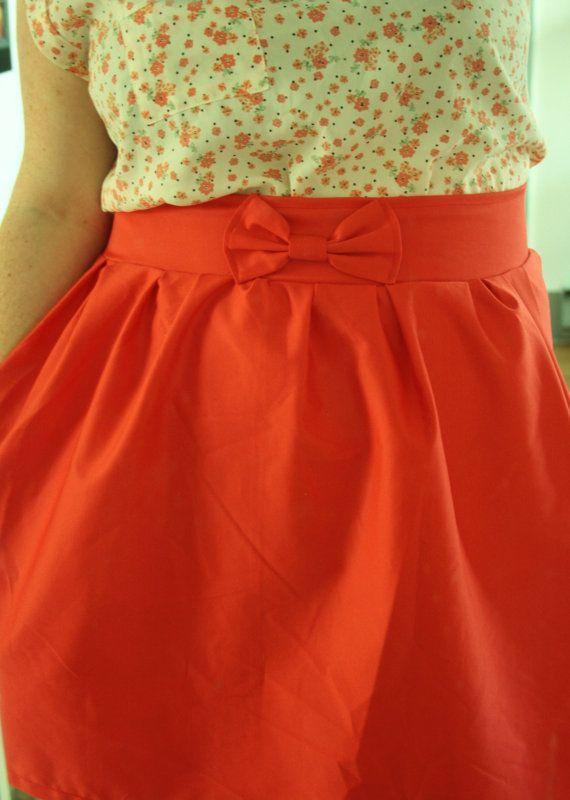 Gathered Bow Skirt  Custom by rachelsumbrella on Etsy, $40.00