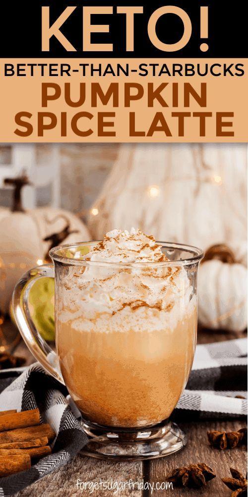 Keto Pumpkin Spice Latte {Starbucks Copycat} #pumpkinspiceketocoffee