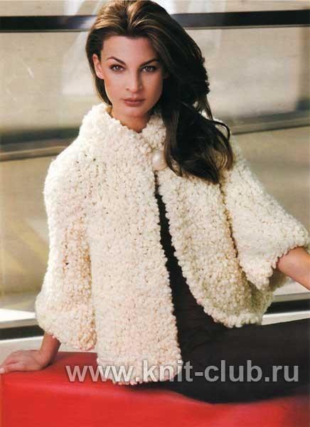 вязаный свитер из пряжи букле пальто кардиган жакет и тд