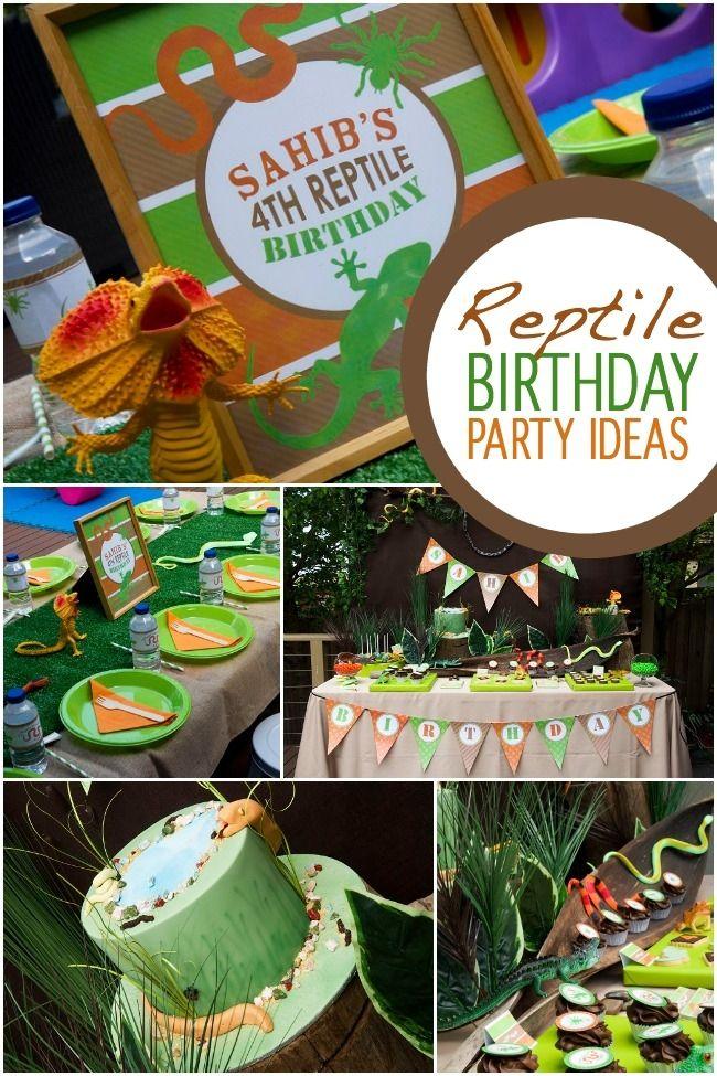 Boys Rad Reptile Birthday Party