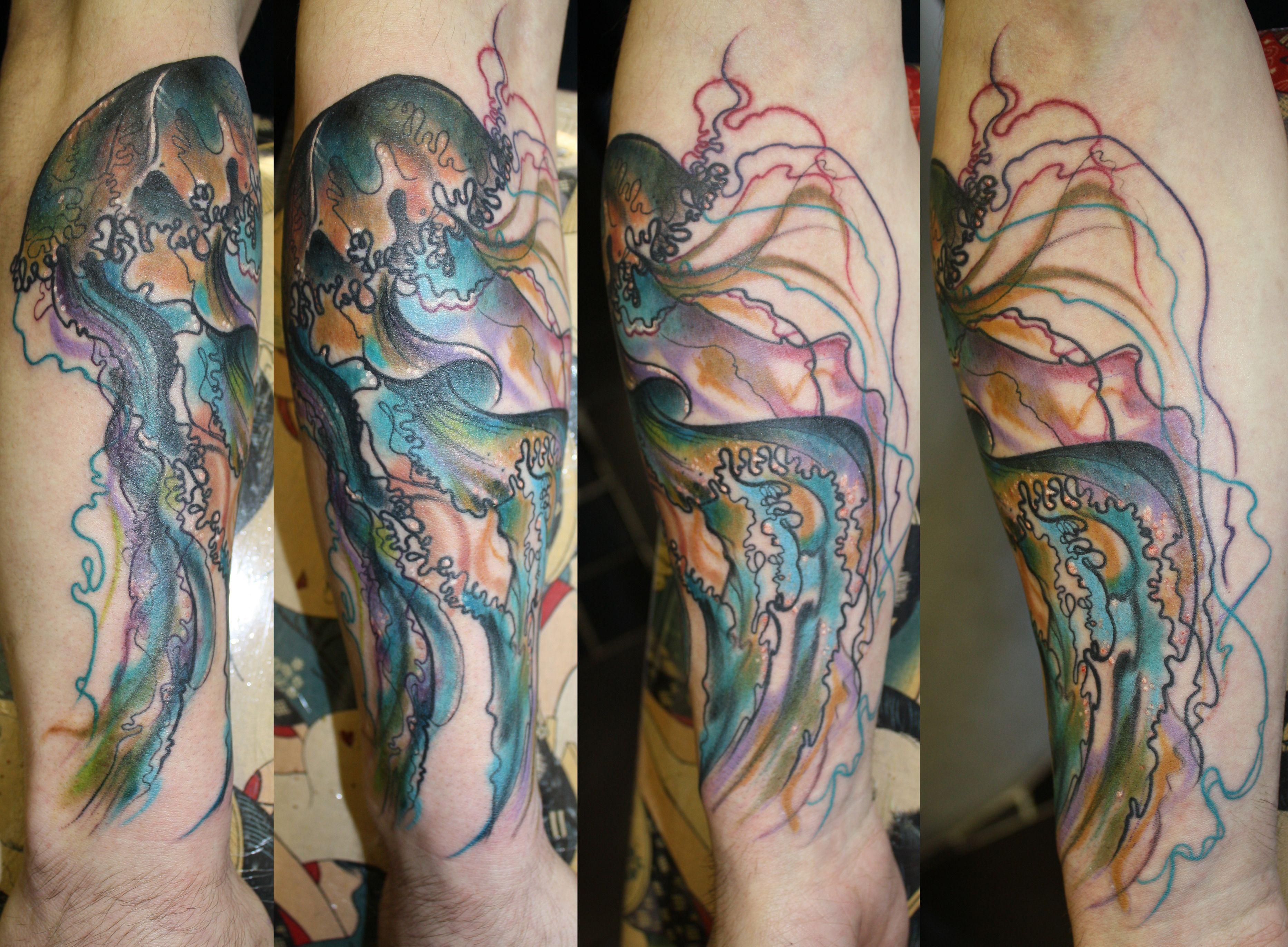 Jellyfish charlotte rossempress tattoo jellyfish