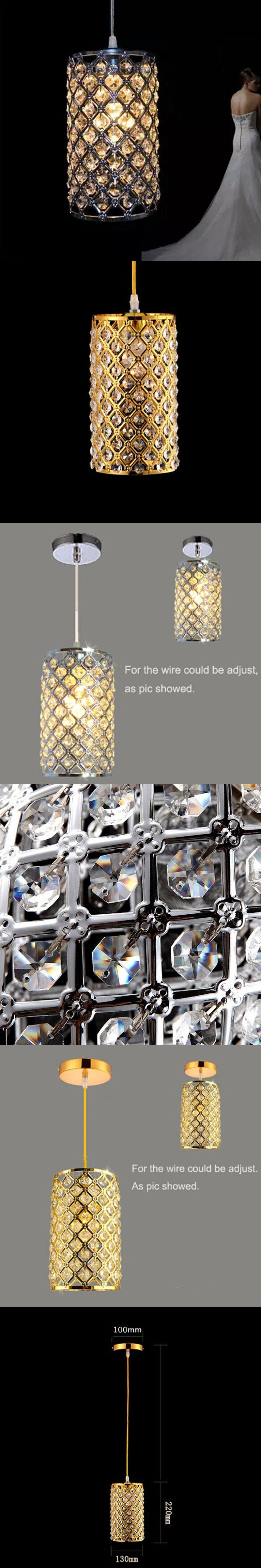 Modern single led gold crystal chandeliers lights modern crystal modern single led gold crystal chandeliers lights modern crystal lamps aisle high power lights aloadofball Images