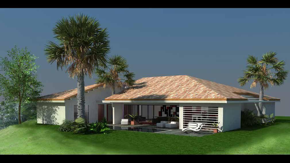 Maison contemporaine mix toit tuiles et terrasse végétalisée