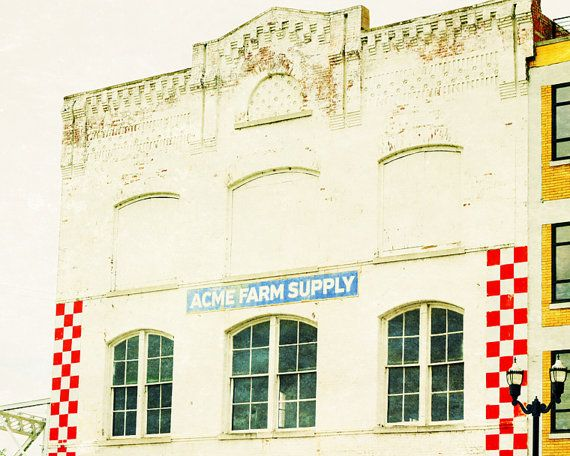 Nashville art Acme Farm Supply rustic industrial decor Nashville decor architecture photography