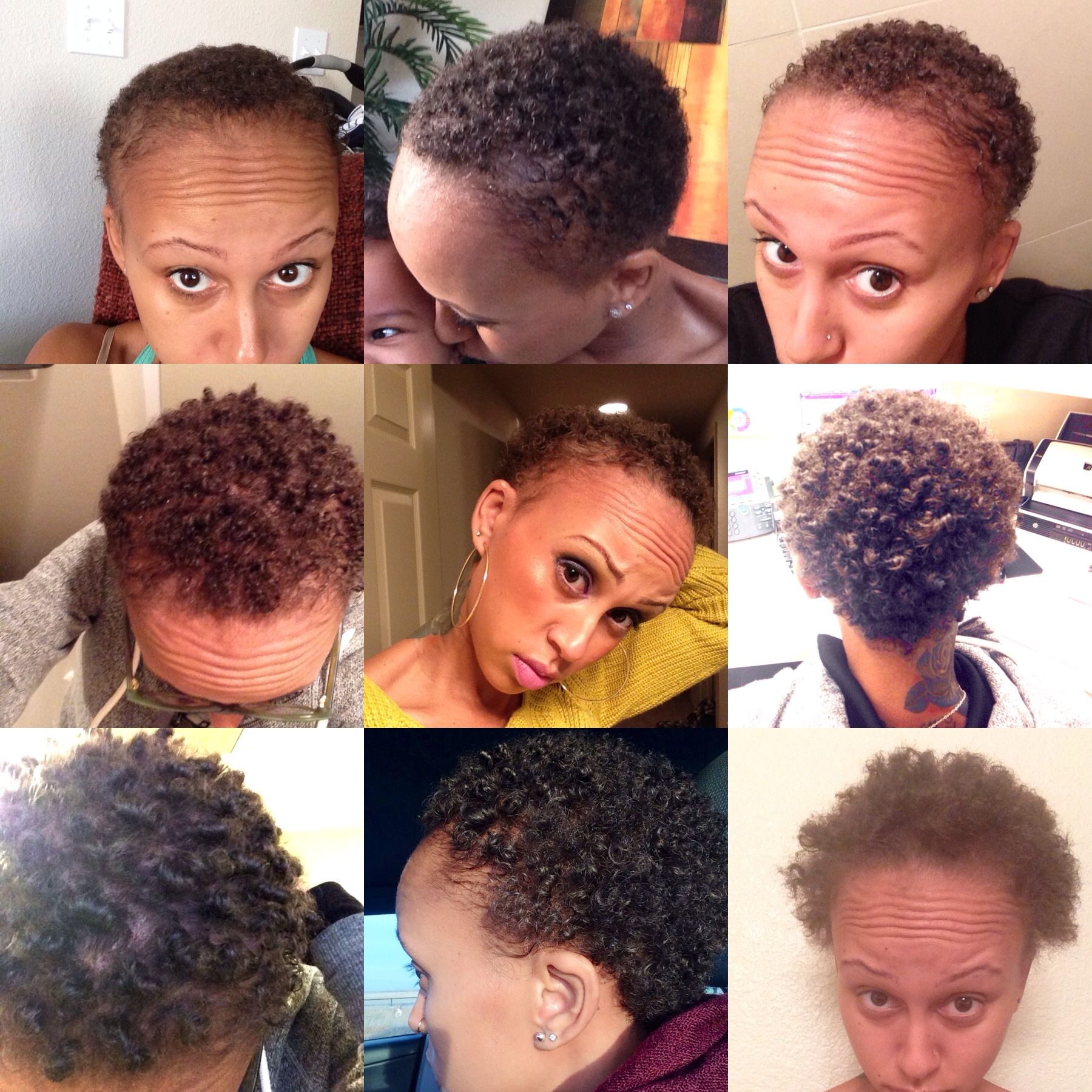 4 Months Post Big Chop My Natural Hair Journey Over The Past 4 Months No Heat No Dye So Hair Growth Stages Natural Hair Styles Short Natural Hair Styles