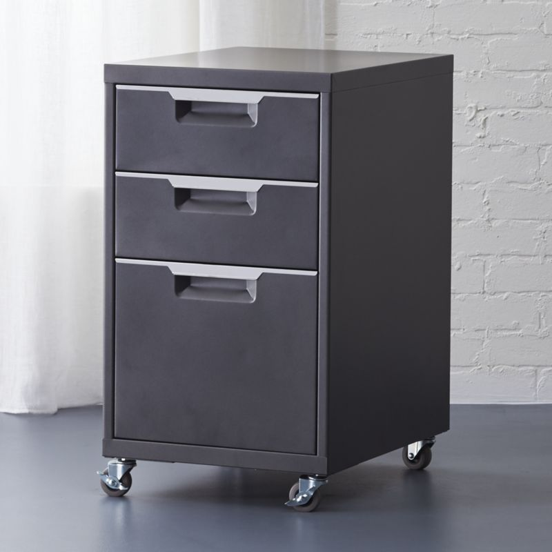 Tps Carbon Rolling File Cabinet Under Mechanic Chic Powdercoated Two Drawers Top A Letter Legal