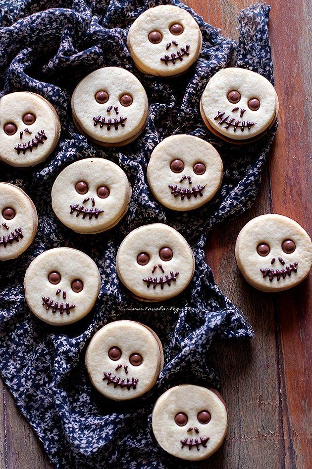 Biscotti di Halloween alla nutella semplici, in tante