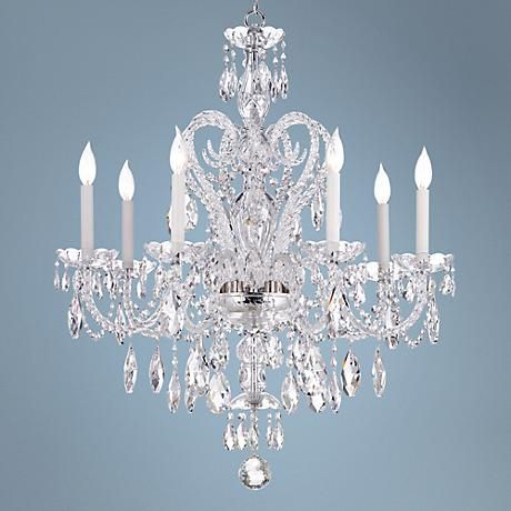 Each Swarovski Spectra Crystal Illuminates In The Breathtaking Brilliance Of This 7 Light Chandelier