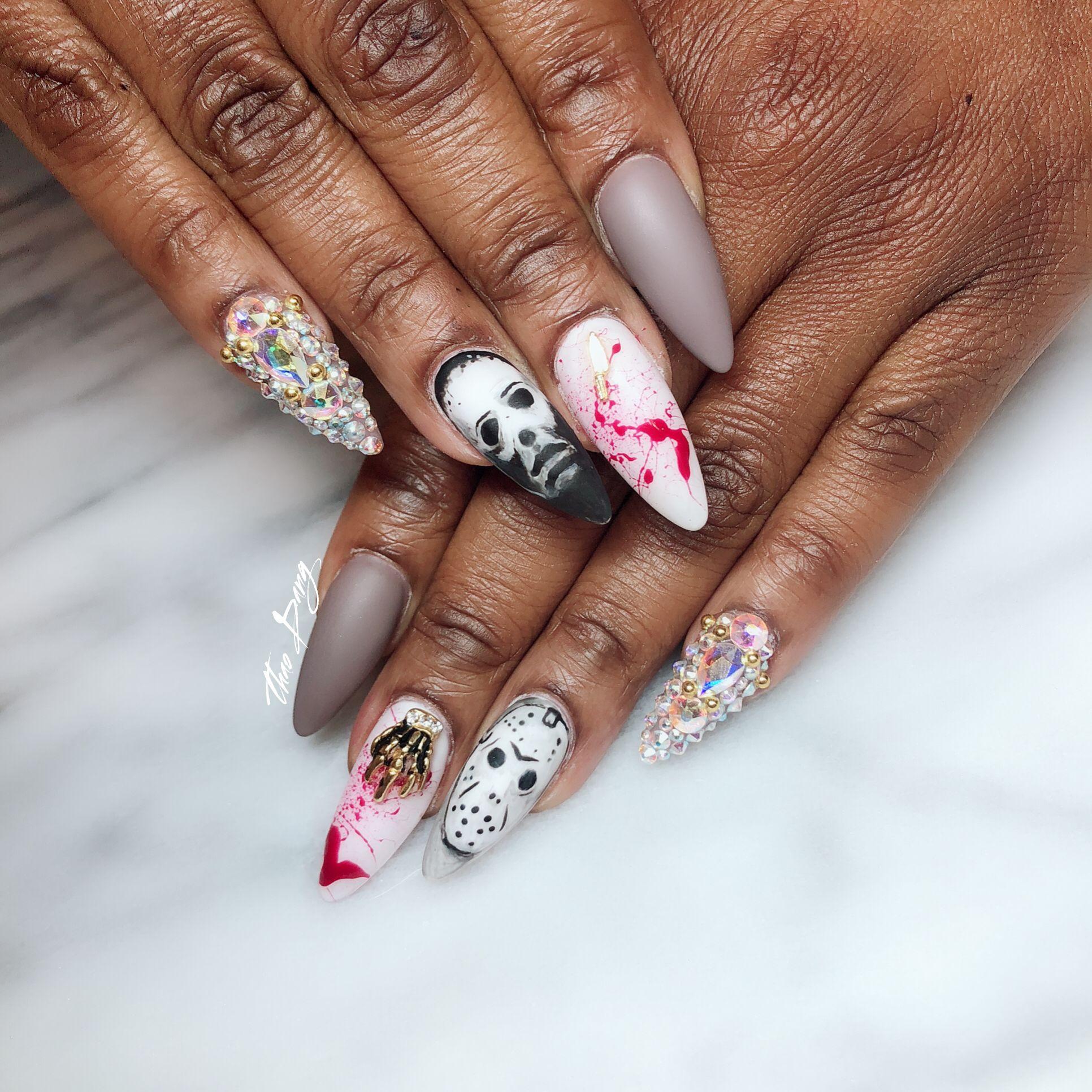 #nailsbytdang | Michael myers and jason, Nails