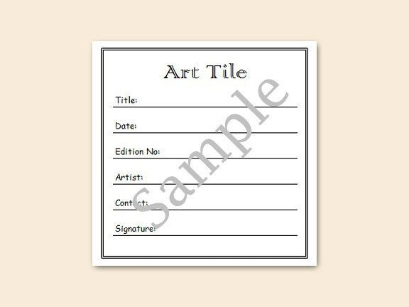 Art Labels  Free Shipping   Square PreCut Blank Certificate