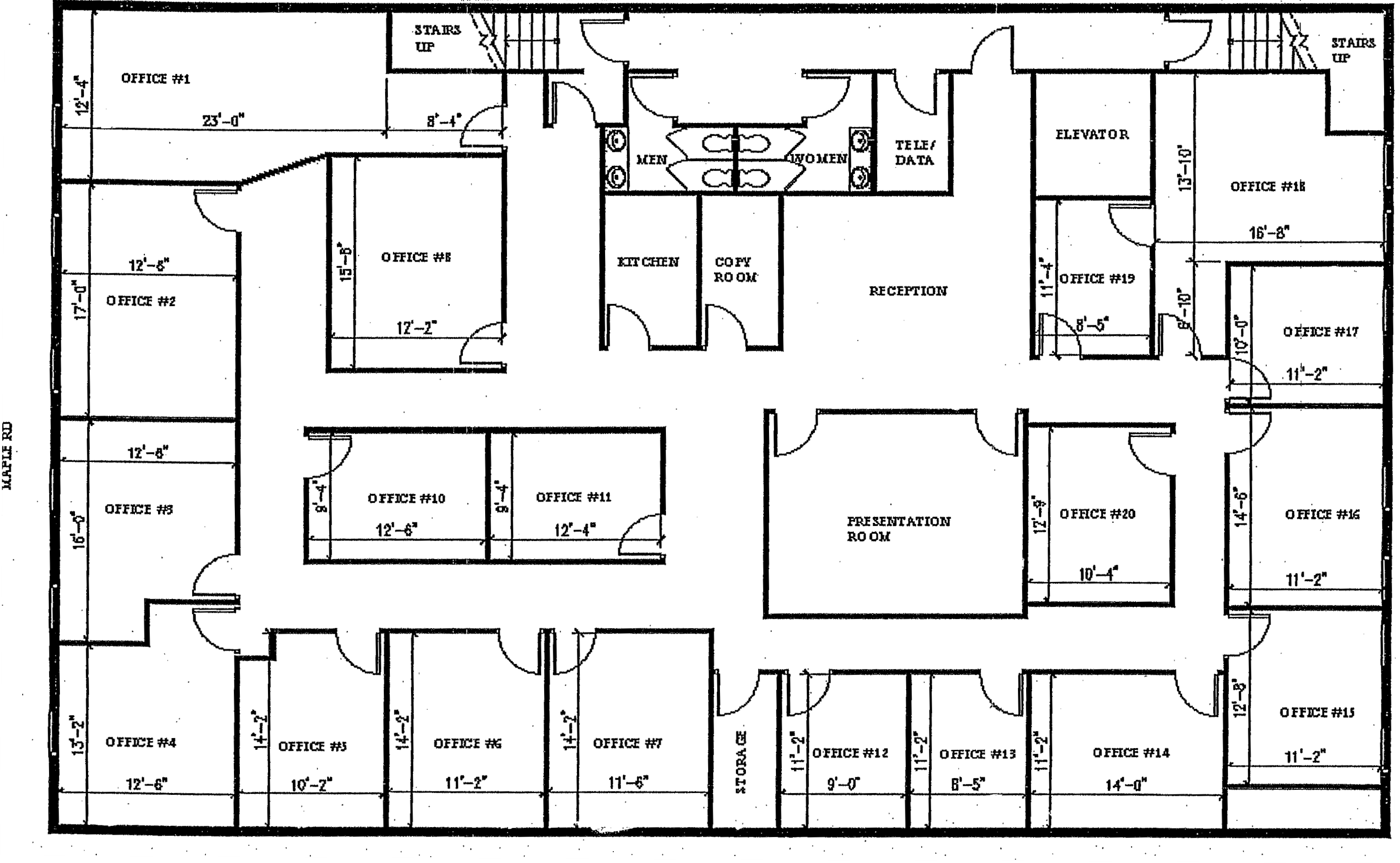 executive office suite floor plan - Google Search | Office ...